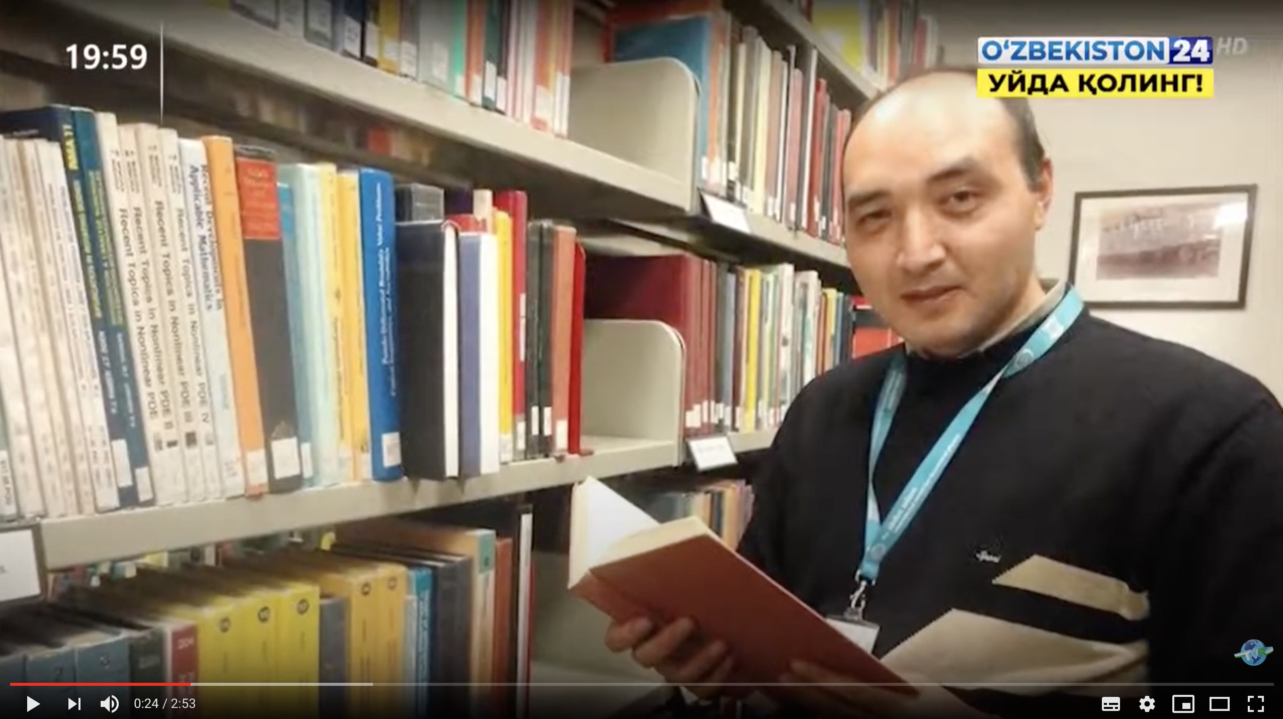Dr Erkinjon Karimov on State TV