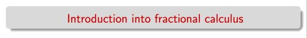 intro fracderivatives