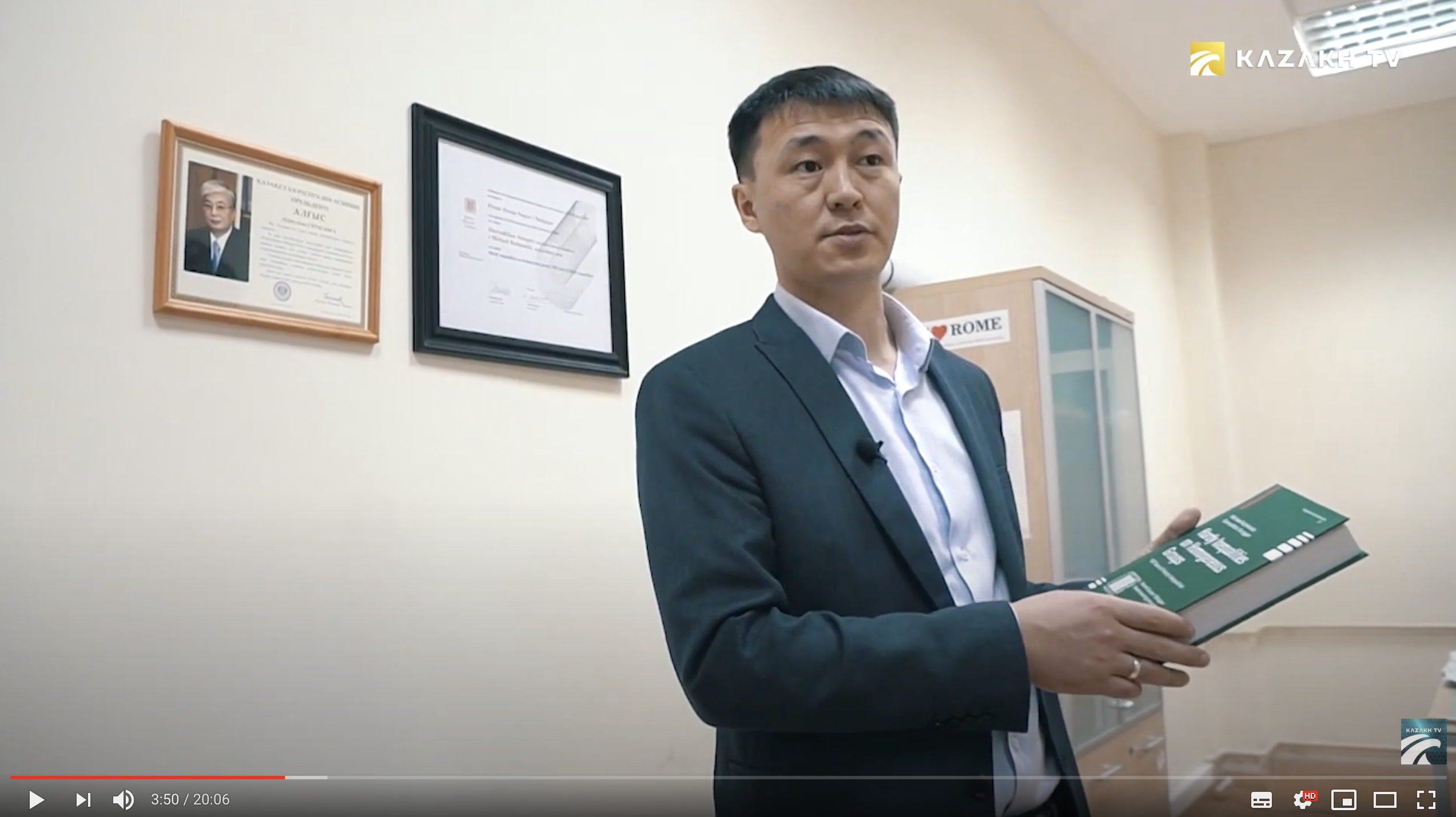 Dr Durvudkhan Suragan on Kazakh TV